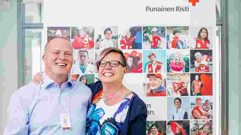 Contact information for the Finnish Red Cross